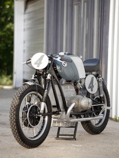 Bill Twitchel and Matt Musial of Austin Paintworks, Texas, occasionally build special motorcycles. This is their latest, a humble BMW R60 transformed into a glorious Rennsport RS54 race replica. [Image by Jake Herrle] bmw r60, cafe racer, race replica