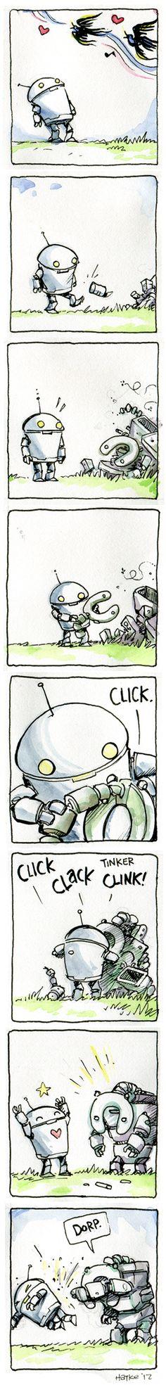 Art and Adventure: Robot Comic #24 by Ben Hatke