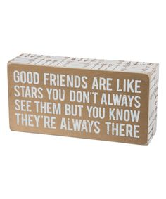 Another great find on #zulily! 'Good Friends' Box Sign #zulilyfinds