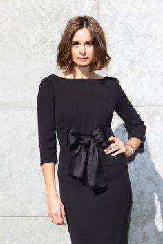 Most Popular Venice Dresses 1/2 Long Sleeveless Bateau Neckline With Bowknot Elastic Satin Chiffon A-line