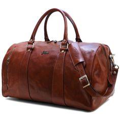 leather duffle bag floto
