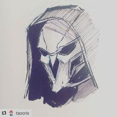 Awesome art Credit: @taooris #unlockingfishyroute #doodle #overwatch #reaper #drawing #follow #like