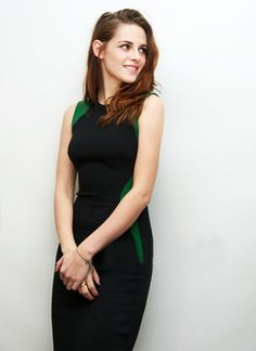 Black Green Color Block Sleeveless Celebrity Pencil Dress