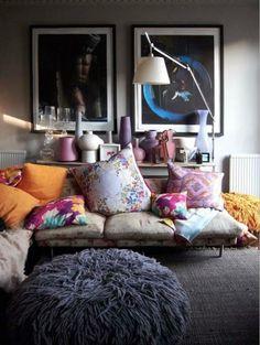 DIY Boho Chic Living Room Decor Inspirations on A Budget - Page 19 of 99 Chic Living Room, Home Living Room, Living Room Decor, Living Spaces, Cozy Living, Living Room Inspiration, Interior Inspiration, Design Inspiration, Style At Home