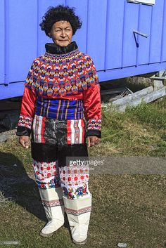 View top-quality stock photos of Inuit Women In Traditional Greenland Clothing. Find premium, high-resolution stock photography at Getty Images. Traditional Dresses, Traditional Art, Inuit Clothing, Folk Costume, Costumes, Inuit People, Tribal People, Beaded Collar, Carnival