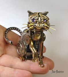 This Artist Recycles Old Watch Parts Into Incredible Steampunk Sculptures by Sue Beatrice.