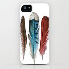 Bird Friends Feathers Study iPhone & iPod Case by Jody Edwards Art - $35.00