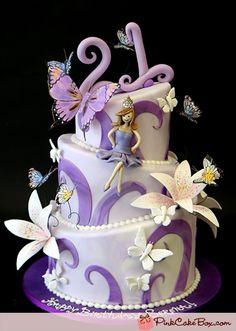 21st Topsy Turvy Birthday Cake