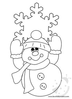 pupazzo-neve-addobbi2 - #pupazzoneveaddobbi2 Kids Christmas Ornaments, Paper Ornaments, Christmas Colors, Christmas Art, Winter Christmas, Snowman Crafts, Holiday Crafts, Noel Gifts, Christmas Coloring Sheets
