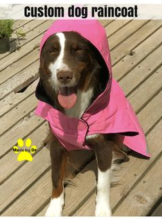 Do you have spring rains where you live? If so, maybe your dog needs a raincoat. This one is custom made, just for your dog. Find out more here. Dog Smells, Dog Raincoat, Dog Coats, Waterproof Fabric, Stay Warm, Pup, Dog Clothing, Dogs, Live
