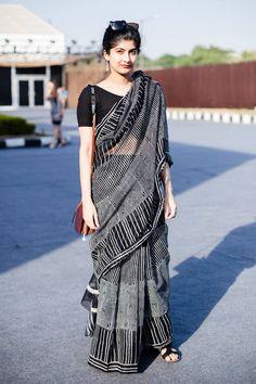 Saree creates the magic. Formal Saree, Casual Saree, Traditional Sarees, Traditional Dresses, Saris, Indian Dresses, Indian Outfits, Indian Attire, Indian Wear