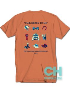 """""""Talk Derby To Me"""" Delta Gamma // chthreads.com #deltagamma #derby #bowties #south #comfortcolors #recruitment"""