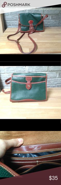 Vintage crossbody bag satchel well made purse tote True vintage pebble grain leather bag. NOT Madewell. Very good used condition - no stains scratches on leather. Clean inside other than name written in one area. Madewell Bags Satchels
