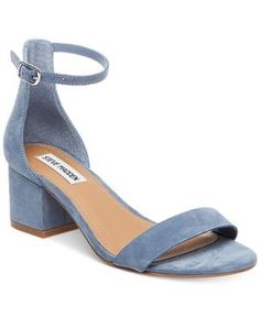b2dd1c8799 Steve Madden tempers the delicate ankle strap on these Irenee sandals with  a chunky, block