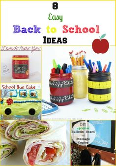 8 easy back to school ideas, featuring recipes, crafts and DIY projects #backtoschool