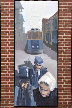 Muurschildering Jan Tooropstraat (kunstenaar Jaap van der Plas) Netherlands, Holland, Dutch, Anime, Painting, Art, The Nederlands, The Nederlands, Art Background