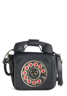 Betsey Johnson That's What I Call Style Bag. You give a new meaning to accessorizing with rings when you model this vegan faux-leather purse by Betsey Johnson! Shared by Career Path Design Betsey Johnson, Backpack Purse, Purse Wallet, Book Purse, Crossbody Bag, Novelty Bags, Unique Purses, Vintage Bags, Retro Vintage