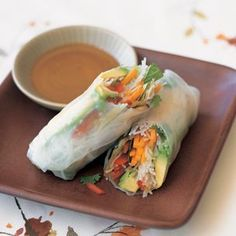 Summer Vegetable Rolls with Rice Noodles. I've made spring rolls before and they are always easy and delicious