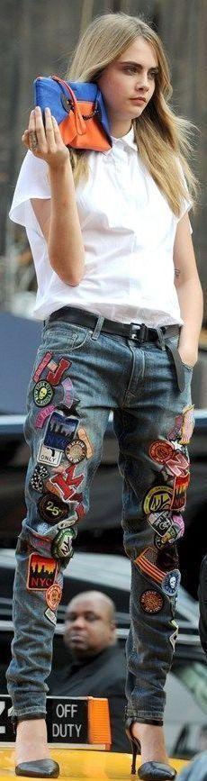 Креативные джинсы своими руками