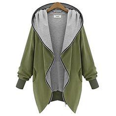 weimeijia® donne con cappuccio tutto cerniera corrispondenza soprabito - EUR € 19.99
