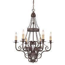 View the Jeremiah Lighting 23626 Traditional / Classic 6 Light Up Light Chandelier from the Brookshire Manor Collection at LightingDirect.com.