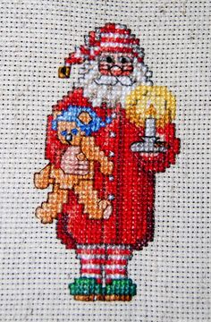 Bear with Sword Cross Stitch Pattern