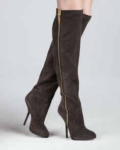 Suede Over-the-Knee Side-Zip Boot by Giuseppe Zanotti at Neiman Marcus.