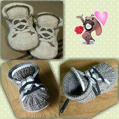 Helppo pukea vauvan jalkaan ja joustava nyöritys pitää tossun hyvin jalassa