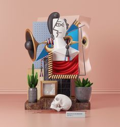 #picasso #monument to the Spaniards #behance