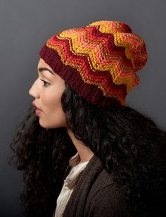 Make waves (or a splash of color!) in this cozy self-striping hat. Knit in Bernat Super Value and Super Value Stripes for an easy striping effect. This pattern is for intermediate knitters.  Yarnspirations