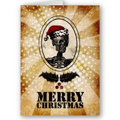 Skeleton Santa Christmas Card
