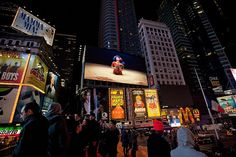 March Midnight Moment 2013 by Times Square NYC, via Flickr  Bjork's Mutual Core   in partnership with MOCA Los Angeles and Streaming Musuem's Nordic Outbreak  Photo Credit: Ka-Man Tse