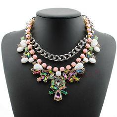 2014 европейских и американских большой ретро моды зима новый River Island преувеличены великолепный драгоценный камень ожерелье - Taobao