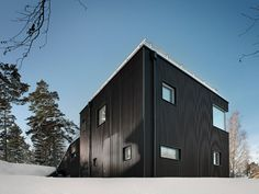 The roof of this Stockholm house by Streetmonkey Architects turns into a ramp for children to sled on when it snows