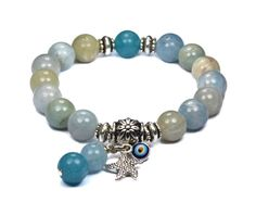AQUAMARINE Blue Quartz Bracelet
