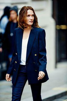 navy jacket love #style #fashion #streetstyle