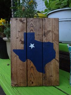 Texas Wooden Sign by BohemianCrackerjack on Etsy, $12.00