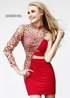 80728c0018 2014 Sherri Hill 21185 Nude Prom Dresses Sherri Hill Prom Dresses Short