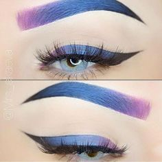 Ombré eyes and ombré brows by @mrs_akaeva  So gorgeous!    #Eyeliner #CatEye #EyelinerForBeginners #HowToDoEyeliner Glitter Eyebrows, Red Eyeliner, How To Do Eyeliner, Pencil Eyeliner, Eyeliner Waterline, Eyeliner Stencil, Makeup Tutorial Eyeliner, Eyeliner For Beginners, Mascara Tips