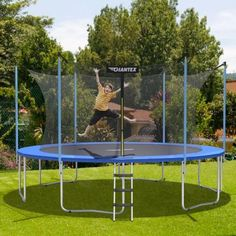 This high quality trampoline is aimed for bringing fun to you and your family while protecting their safety during use. With a diameter of 12 feet and a maximum load capacity of 375 lbs adults can also enjoy jumping as well! #trampoline