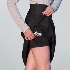 Bias-Cut Skirt With Built-In Shorts