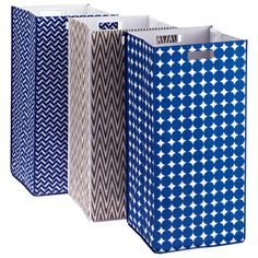 Container Store - Patterned Rhombus Hamper $30