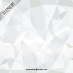 White polygons background Free Vector