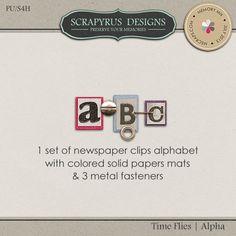 Time Flies | Alpha :: Alpha's & Fonts :: Memory Scraps
