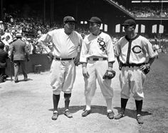 Here for 1st MLB All-Star Game--1933 at Comiskey in Chicago--Babe Ruth (hit game's 1st HR), Al Simmons, Earl Averill: pic.twitter.com/7VEwj6nVp9