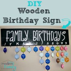 DIY wooden birthday sign with instructions  pictures to help you make it yourself.  Yourmodernfamily.com