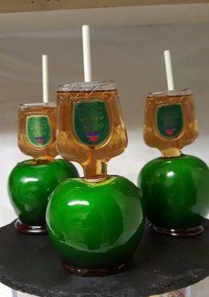 Drunken Crown Royal candy apples
