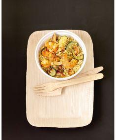Quinoa, crevettes & curry