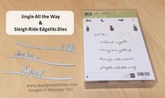 Jingle All The Way & Sleigh Ride Edgelits Dies, Stampin' Up!