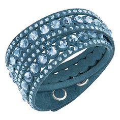Swarovski Slake Dark Blue Dot Bracelet - 5201118 -- Quickly view this special jewelry, click the image : jewellery Swarovski Bracelet, Swarovski Jewelry, Crystal Jewelry, Swarovski Crystals, Bracelets For Men, Fashion Bracelets, Jewelry Bracelets, Jewellery, Teal Jewelry
